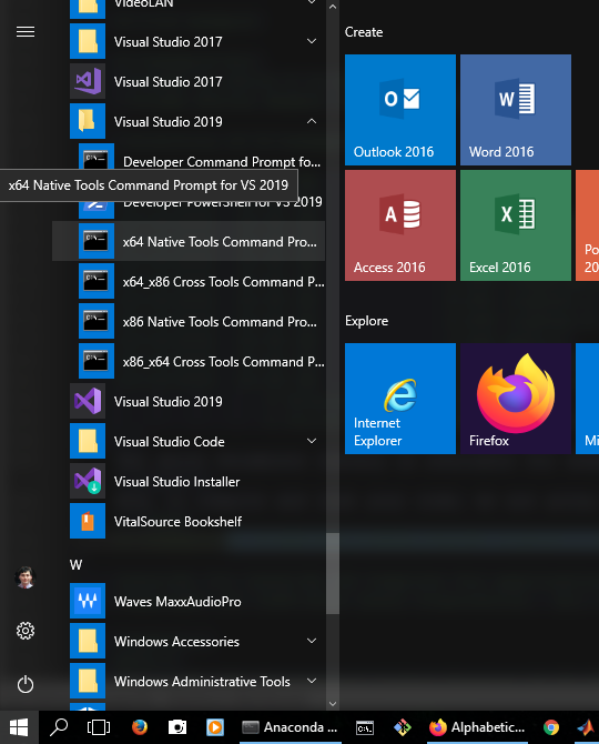 Microsoft Visual Studio's customized command-line interface